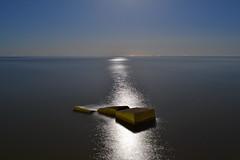 In the moonlight. (denkuznets81) Tags: sea summer seascape shore night azov moonlight donbass stones море азовскоеморе азов ночь луна седово донбасс