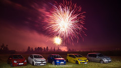 Fireworks with Autobasterds - 07 (JDPhotoIDF) Tags: autobasterds fireworks fire works feu artifice 14 juillet 13 2019 fêtes national saint soupplets 77165 seine et marne ile de france idf renault sport renaultsport clio rs 4 iv 220 trophy rs220 edc 2 rs182 182 phase 3 2rs3 rs3 rs2004 2004 liquidyellow liquid yellow jaune sirius jaunesirius performance rsperformance bodykit rs16 16 volkswagen golf r32 r 32 vw