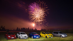 Fireworks with Autobasterds - 06 (JDPhotoIDF) Tags: autobasterds fireworks fire works feu artifice 14 juillet 13 2019 fêtes national saint soupplets 77165 seine et marne ile de france idf renault sport renaultsport clio rs 4 iv 220 trophy rs220 edc 2 rs182 182 phase 3 2rs3 rs3 rs2004 2004 liquidyellow liquid yellow jaune sirius jaunesirius performance rsperformance bodykit rs16 16 volkswagen golf r32 r 32 vw