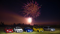 Fireworks with Autobasterds - 05 (JDPhotoIDF) Tags: autobasterds fireworks fire works feu artifice 14 juillet 13 2019 fêtes national saint soupplets 77165 seine et marne ile de france idf renault sport renaultsport clio rs 4 iv 220 trophy rs220 edc 2 rs182 182 phase 3 2rs3 rs3 rs2004 2004 liquidyellow liquid yellow jaune sirius jaunesirius performance rsperformance bodykit rs16 16 volkswagen golf r32 r 32 vw