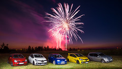 Fireworks with Autobasterds - 03 (JDPhotoIDF) Tags: autobasterds fireworks fire works feu artifice 14 juillet 13 2019 fêtes national saint soupplets 77165 seine et marne ile de france idf renault sport renaultsport clio rs 4 iv 220 trophy rs220 edc 2 rs182 182 phase 3 2rs3 rs3 rs2004 2004 liquidyellow liquid yellow jaune sirius jaunesirius performance rsperformance bodykit rs16 16 volkswagen golf r32 r 32 vw