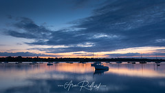 Pin Mill Solitude (Aron Radford Photography) Tags: pin mill pinmill suffolk sunrise dawn golden hour river orwell estuary creek water clouds boat reflections landscape seascape coastal