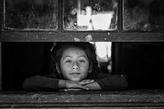 Girl in the Window (_aires_) Tags: aires iris girl window blackandwhite windowsill portrait canoneos5dmarkiv canonef100mmf28lmacroisusm matucana matucanalimaperu