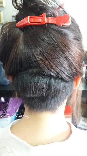 嘉義新秘,番路新秘,新秘,白紗迎娶造型,短髮新娘,無縫接髮超完美,韓風優雅造型