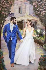 Josh and Jasmin's Wedding Portrait (Assaf Shtilman) Tags: gift original derwent procolour lightfast paper colouredpencil coloredpencil pencils commission couple drawing painting wedding portrait