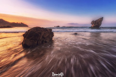 Sunny delight (danielfi) Tags: aguilar asturias playa beach costa coast paisaje seascape mar sea sunset puesta sol sun atardecer ocaso naturaleza nature