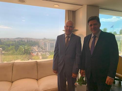Συνάντηση ΑΝΥΠΕΞ, Μ. Βαρβιτσιώτη, με τον Πρέσβη της Τσεχίας, J. Bondy (Αθήνα, 25.07.2019)