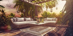 Sunset at paradise (Valenska Voljeti) Tags: secondlife sl fameshedx brocante patio outdoor furniture decoration decor