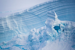 Antarctic Blues (LauriNovakPhotography) Tags: lines antarcticcontinent ice nature shapes glacier blogday9 antarctica oneocean winter portalpoint snow
