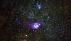 The Lagoon (craigcallagher) Tags: tenerife astrophotography nebula nebulae lagoon trifid sky night