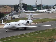 N886CS Gulfstream G650 (Global Reach 18 LLC) (Aircaft @ Gloucestershire Airport By James) Tags: luton airport n886cs gulfstream g650 global reach 18 llc bizjet eggw james lloyds