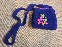 206/365 Knitted bag (KatyMag) Tags: flickrlounge saturdaytheme knitting bag handmade blue woollen craft