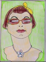 Karen (1ManekiNeko) Tags: jkpp portrait karen coloredpencil ink