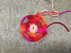 One three-round square (crochetbug13) Tags: crochet crocheted crocheting crochetsquares grannysquares flamboyantafghan crochetblanket grannysquareblanket crochetafghan grannysquareafghan