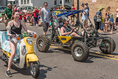 Northern Michigan University Students (scattered1) Tags: july4th engineeringteam mi mini marquette racer upperpeninsula northernmichiganuniversity scooter parade vehicle student michigan nmu engineer summer youngwoman minibaja bajasae youngman northernmichigan car northern independenceday societyofautomotiveengineers baja 2019 sae wheel