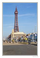 Blackpool Tower (Seven_Wishes) Tags: blackpool lancashire 2019 outdoor photoborder canoneos5dmarkiv canonef70200mmf4lisii seaside winter bluesky promenade seafront buildings tower blackpooltower newcastleupontyne tyneandwear uk views3k