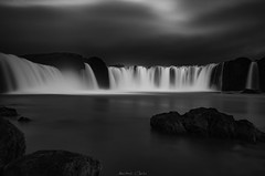 Adagio (_Amritash_) Tags: goðafoss godafoss waterfall river rocks iceland icelandiclandscapes icelandichighlands cloudy blackandwhite monochrome monochromemadness longexposure waterfallofthegods skjálfandafljót landscape travel weather lpm 65°40′48″n17°32′24″w adagio