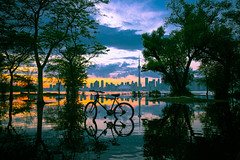 Sunset from Olympic Island (A Great Capture) Tags: agreatcapture agc wwwagreatcapturecom adjm ash2276 ashleylduffus ald mobilejay jamesmitchell toronto on ontario canada canadian photographer northamerica torontoexplore summer summertime été sommer 2019 city downtown lights urban torontoislands centreisland island colours colors colourful colorful light sun bike bicycle sunset atardecer cityscape urbanscape eos digital dslr lens canon 6d mark ii ef2470mm scenery scenic sky himmel ciel flood waterscape wet water agua eau reflection mirror glass reflections outdoor outdoors outside vibrant cheerful vivid bright clouds cloudy
