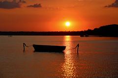 Napkelte Siófokon (HorvathZsolt73) Tags: sunrise sun balaton siófok plattensee napkelte csónak boat hajnal dawn aurora