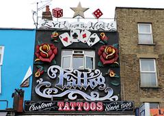 Evil from the Needle (Rick & Bart) Tags: art buckstreet london uk city urban camdentown rickvink rickbart canon eos70d store streetart tattoo evilfromtheneedle