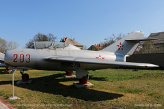MiG-15 UTI (srkirad) Tags: aircraft airplane jet fighter trainer twoseat mikoyan gurevich mig mig15uti hungarian russian aviationmuseum aviation museum szolnok hungary travel sunny outside
