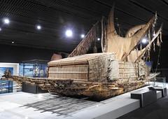 Lakatoi Hiri Motu trading canoe (Joel Abroad) Tags: churaumi okinawa oceanic culture museum canoe motu hiri trading voyage papuanewguinea