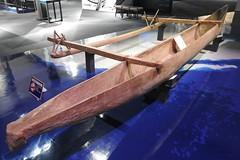 Samoan outrigger canoe (Joel Abroad) Tags: polynesian voyaging churaumi oceanic culture museum canoe outrigger okinawa samoa