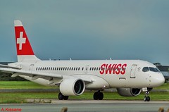 SWISS CS300 HB-JCL (Adrian.Kissane) Tags: taxiway taxing arriving ireland sky outdoors airliner airline jet plane airport aeroplane aircraft airbus dublinairport hbjcl 1662019 cs300 dublin swissair
