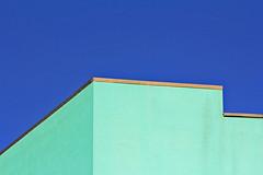Urban minimalism (Daniel Nebreda Lucea) Tags: minimal minimalismo simple lines lineas color colorful colorido urban urbano urbana blue green azul verde shapes formas architecture arquitectura building edificio construccion art arte composition composicion line linea sky cielo canon 60d 55250mm street calle city ciudad skyline cityscape