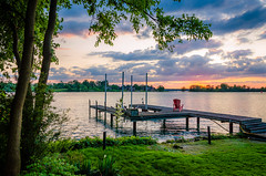 The Lonely Dock (Neil Cornwall) Tags: 2019 amherstburg canada detroitriver july navyyardpark ontario summer sunset