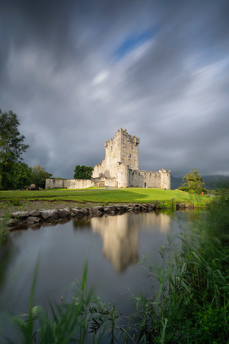 Ross castle, morning light in between showers (Explored)