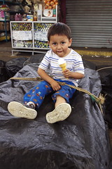 They tied me down here and gave me this icecream to be quiet (klauslang99) Tags: klauslang kid boy child cuenca ecuador