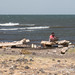 Lake Turkana shore - repairing the net