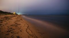 Nybrostrand 4 (mmartinsson) Tags: xf14mm fujinon ocean longexposure digital beach xpro1 sky night östersjön 2019 fujifilm balticsea skånelän sverige