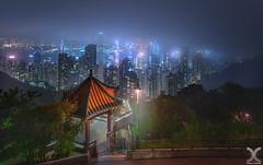 The Little Red Pavilion (DanielKHC) Tags: hong kong cityscape night nikon z7 nikkor 19mm tilt shift red pavilion digital blending