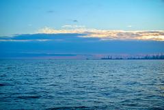 Sunset in Mariupol. (denkuznets81) Tags: sunset dusk sea seascape sky port blue mariupol donbass azov азовскоеморе закат море порт мариуполь донбасс небо вечер