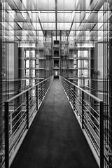 Glass (Leipzig_trifft_Wien) Tags: berlin deutschland glass reflection brifge building city urban architecture monochrome black white