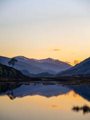 Sunset over Loch Beannacharan