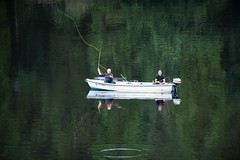 Time to reflect on the one that got away! (Glenn Birks) Tags: derwent water fishing boat