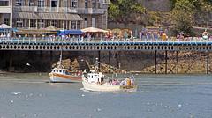 Meeting of the boats (Gill Stafford) Tags: gillstafford gillys image photograph wales northwales conwy llandudno sunshine fun holidays children seaside resort seajay seaborne pleasure boats pier