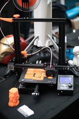 3D Drucker druckt Teile