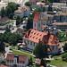 Balsthal mit Katholischer Kirche Maria Himmelfahrt gesehen von der Holzflue (734 m.ü.M.)