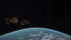 Earth & Moon 4 (Cmdr Hawkshadow) Tags: aspexplorer apollo 11 50th anniversary earth sol moon elitedangerous
