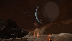 IC 1396 Sector RU-F d11-7 (Earth-Like Dance With Giant) 3 (Cmdr Hawkshadow) Tags: aspexplorer apollo 11 50th anniversary expedition elitedangerous