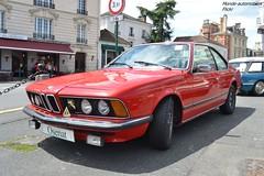 BMW 633 CSI E24 1976 (Monde-Auto Passion Photos) Tags: voiture vehicule auto automobile bmw csi e24 coupé red rouge sportive ancienne classique rare rareté collection vente enchère osenat france fontainebleau