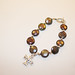 Precious metal clay (fine silver) cross with coin pearls bracelet