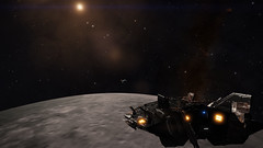 Earth & Moon 2 (Cmdr Hawkshadow) Tags: aspexplorer apollo 11 50th anniversary earth sol moon elitedangerous