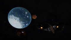 IC 1396 Sector RU-F d11-7 (Earth-Like Dance With Giant) 1 (Cmdr Hawkshadow) Tags: aspexplorer apollo 11 50th anniversary expedition elitedangerous