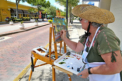 Lois Bajor, Plein Air Painting (HALLDOR_K) Tags: canon6d tarponsprings firstplace pleinairpainting artist woman painting day street explore april spring florida exploretarponsprings award artsandculture