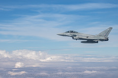 .....perfect. (Air Frame Photography) Tags: raf flying typoon fighter jets plane brize norton north sea photography airtoair farmoor airtanker hose pilot